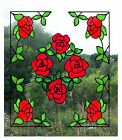 Rose Corners with Centrepiece Stained Glass Effect Window Clings