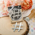 'Hashtag Love' Chrome Metal Bottle Opener - Wedding Shower Favor 18-96 Qty