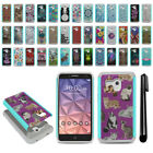 For Alcatel Onetouch Fierce XL 5054 Hybrid Bumper Shockproof Case Cover + Pen