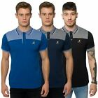 Kangol Mens Casual Polo Shirt Branded Short Sleeve Tee Marl Collar Designer Top