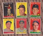 12  1958 TOPPS   COMMONS LOT   VG to VGEX  lite creasing  SEE SCANS/LIST