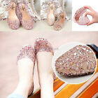 Women Hot Sale Ventilate Crystal Jelly Hollow Cut Out Sandals Flat Shoes Fashion