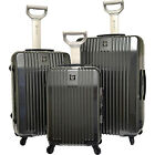 Travelers Club Luggage Jet set 2.0 3PC Hardside Luggage Luggage Set NEW