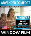SunJoy 5 Strong Glare One Way Mirror Privacy Home Energy Efficient Window Tint