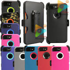 For Apple iPhone 7 Case + Holster Clip (Clip Fits Otterbox Defender) 10 Colors