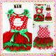 Kids Girl Reds Christmas Party Outfit Girls Tutu Dresses AGE SIZE 1-2-3-4-5-6-7Y