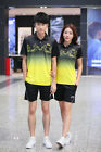 Li-Ning Men's Racing Suits Top+Short Badminton/Table Tennis Tracksuit Polyester