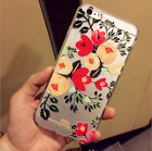 Girls iPhone 6/6s 6Plus Flower Floral Pattern Soft TPU Silicone Phone Case Cover