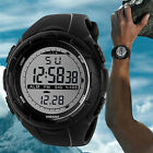 Fashion Men Waterproof LED Silicone Band Digital Date Sport Wrist Watch Hot Cool