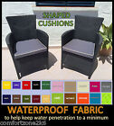 SHAPED WATERPROOF FABRIC CHAIR CUSHIONS ARMCHAIR SEAT PADS GARDEN FURNITURE PIPE