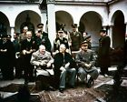 Roosevelt Stalin and Churchill pose during Yalta Conference 1945 Photo Print