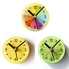 Fruit Magnetic Clock Lemon Refrigerator Clock Message Stickers Wall Clock Decor