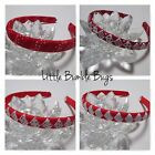 1/2 Woven Headband Everyday and School Wear - 2 Colours - Red