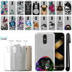 "For LG K20 Plus LV5 M250/ K10 5.3"" Slim Sparkling Silver TPU Case Cover + Pen"