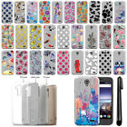 For ZTE Prestige 2 N9136 2017 Slim Sparkling Silver TPU Case Cover + Pen