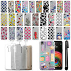 For LG X Power LS755 US610 K450 K220 Slim Sparkling Silver TPU Case Cover + Pen