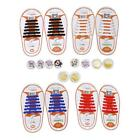 No Tie Anti-Insect Shoelaces Elastic Silicone For Walking Running Sneakers LA