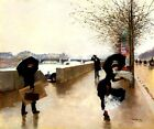 THE WIND PARIS PARISIAN LIFE BELLE EPOQUE FRENCH PAINTING BY JEAN BERAUD REPRO