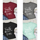 Loose T-Shirt Short Blouses Tee Tops Summer Women Fashion Simple Letters Printed