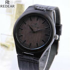 Luxury Men's Women's Wooden Watch Quartz Leather Wristwatches Fashion w/Box US