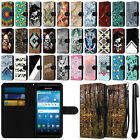 For Kyocera Hydro View C6742 Ultra Slim Canvas Wallet Pouch Case Cover + Pen