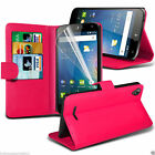 Quality Stylish Leather Executive Book Wallet Custom Phone Case Cover✔Hot Pink