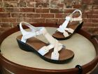 Clarks Hayla Flute White Leather Ankle Strap Sandal NEW