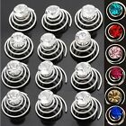 Set 12 Curlies Hair Spirals Rhinestone Wedding Communion Pins Accessories New