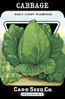 Card Seed Co ~ Cabbage Early Jersey ~ Vintage Seed Packet~Cross Stitch Pattern