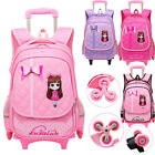 Girl's Fashion Backpack With Flashy Wheels Wheeled School bag Travelling Luggage