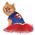 Supergirl Dog Fancy Dress Superhero Justice League Comic Book Puppy Pet Costume