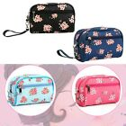 Fashion Zipper Flower Makeup Cosmetic Bag Brush Pouch Storage Toiletry
