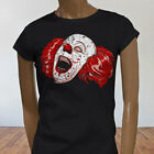 EVIL LAUGHING CLOWN SCARY PENNYWISE IT HORROR Womens Black T-Shirt