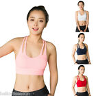 New Womens Seamless Sport Bras Crop Tops Comfort Stretch Yoga Running Vest Top