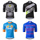 Moustache Racing Bike Pro Men's Bicycle Half Sleeve Cycling Jersey Shirts S-3XL