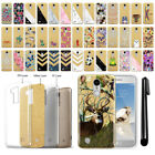 For LG Aristo MS210 LV3 Fortune Sparkling Gold TPU Case Cover Protective + Pen
