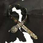 9684 Wildfire Ladies Tooled Embossed Concho Belt - Brown NEW  SALE!!!