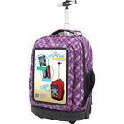 "Travelers Club Luggage 18"" Selfie Rolling Backpack w/"