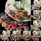 50Pcs Mixed Wooden Buttons 2 Holes 20mm Sewing Scrapbooking Clothes DIY Craft
