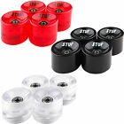 Stuf Longboard Wheels Rolls Spare Wheels incl. Ball bearing Black Red LED 70mm