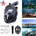 US Full Face Snorkel Mask Anti-Fog 180° View Diving Scuba Swimming Mask F GoPro