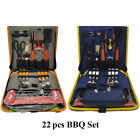 Barbecue Grilling Set with 22 Pieces, Grill Tools, Chair, For Camping, Picnic