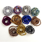 40 Pcs Rondelle faceted Crystal Glass Loose Spacer Beads for Jewelry Making 8 mm