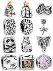 Hot ! 925 Solid Silver Charm Bead Fit European Sterling Bracelet Safety Chain US