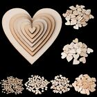 Внешний вид - Wooden Love Heart Shapes Craft Shapes Large & Small Wood Embellishments 10-80mm