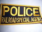 RAILROAD  POLICE SPECIAL AGENT  5 INCH PATCH RARE