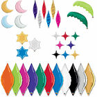 Qualatex Decor Shaped: Taper, Palm Frond,Crescent Moon, Star Foil Party Balloons