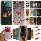 Fashion Cute Pattern Ultra Thin Soft TPU Back Case Cover For iPhone 7 / 7 Plus