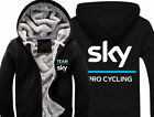 Team Sky Specialized Pro Cycle Mens Outwear Cotton Hoodie Coat Jacket Parkas