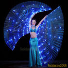 rechargeable LED isis wings glow light up belly dance club costumes sticks bag